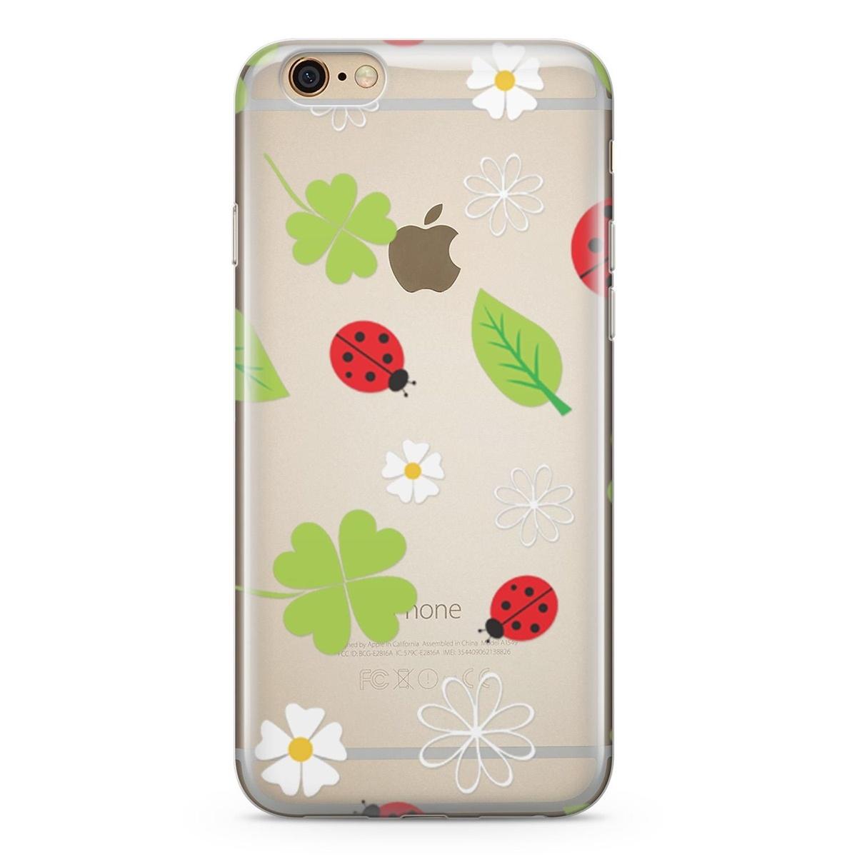Standart Lopard Apple iPhone 6 Plus Kılıf Uğur Böcekleri Yonca Kapak